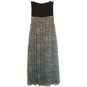 Anthro-Cynthia Rowley Striped Sheer Maxi Skirt